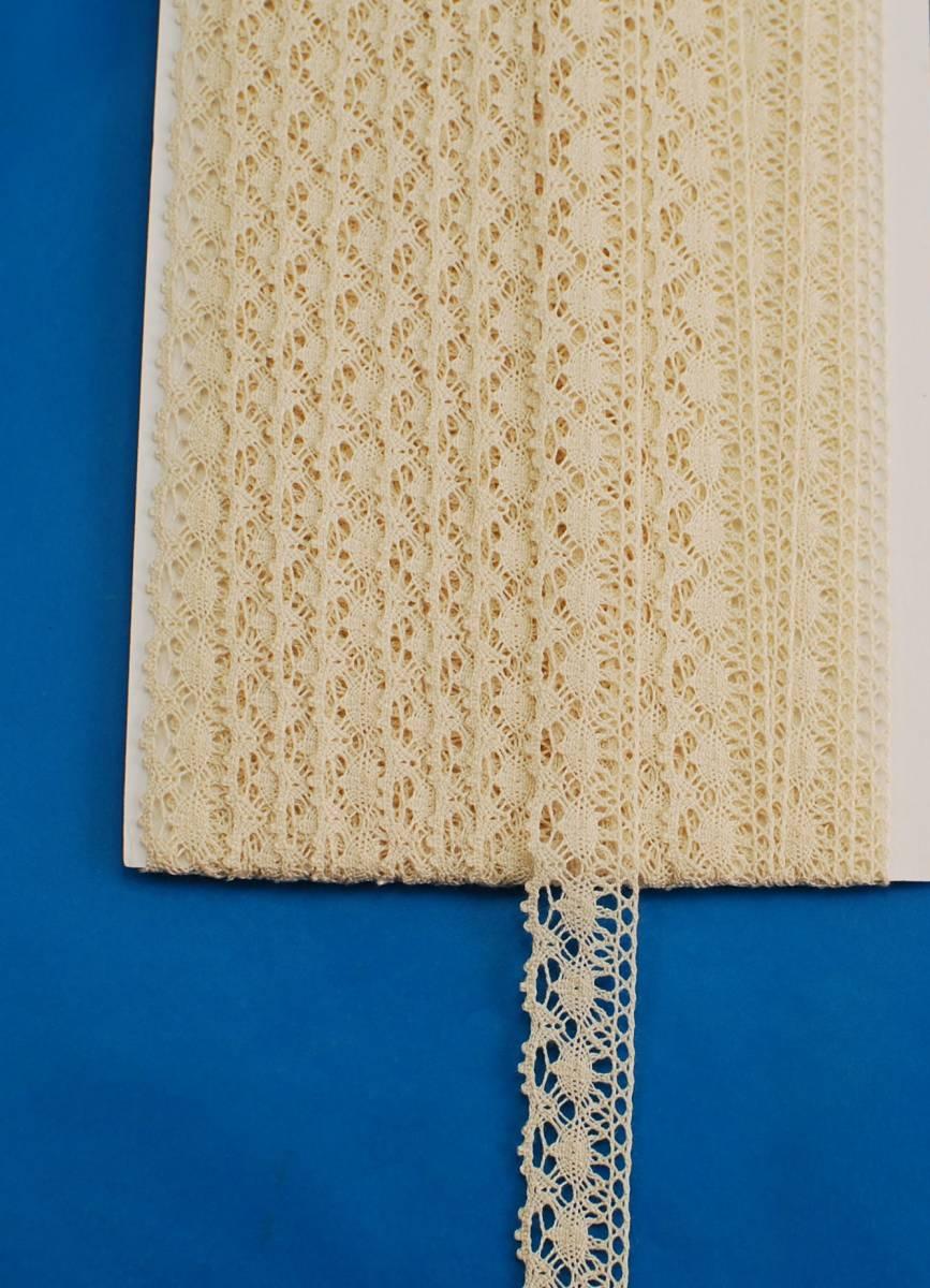 トーション・シルク綿  細巾14mm  生成 10m_1反:10m巻きになります
