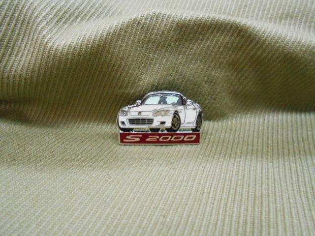 ホンダ ピンズコレクション S2000 ロゴ入り 白