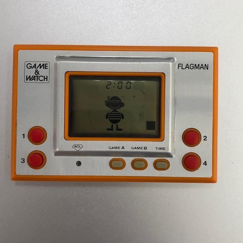 045m393★ゲームウォッチ フラッグマン FLAGMAN 中古 任天堂 GAME&WATCH ジャンク