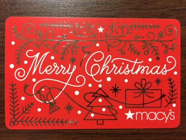 北米ニューヨーク★メイシーズ★ギフト カード④クリスマス