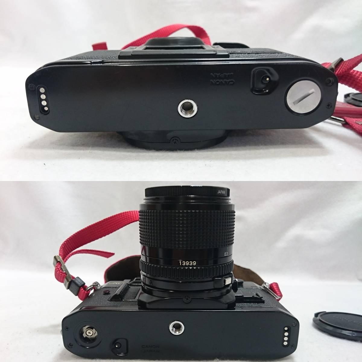 ■カメラ CANON A-1 キャノン 一眼レフ 本体 レンズセット FD 24mm 1:2 FD 35-70mm 1:4 説明書付_画像7