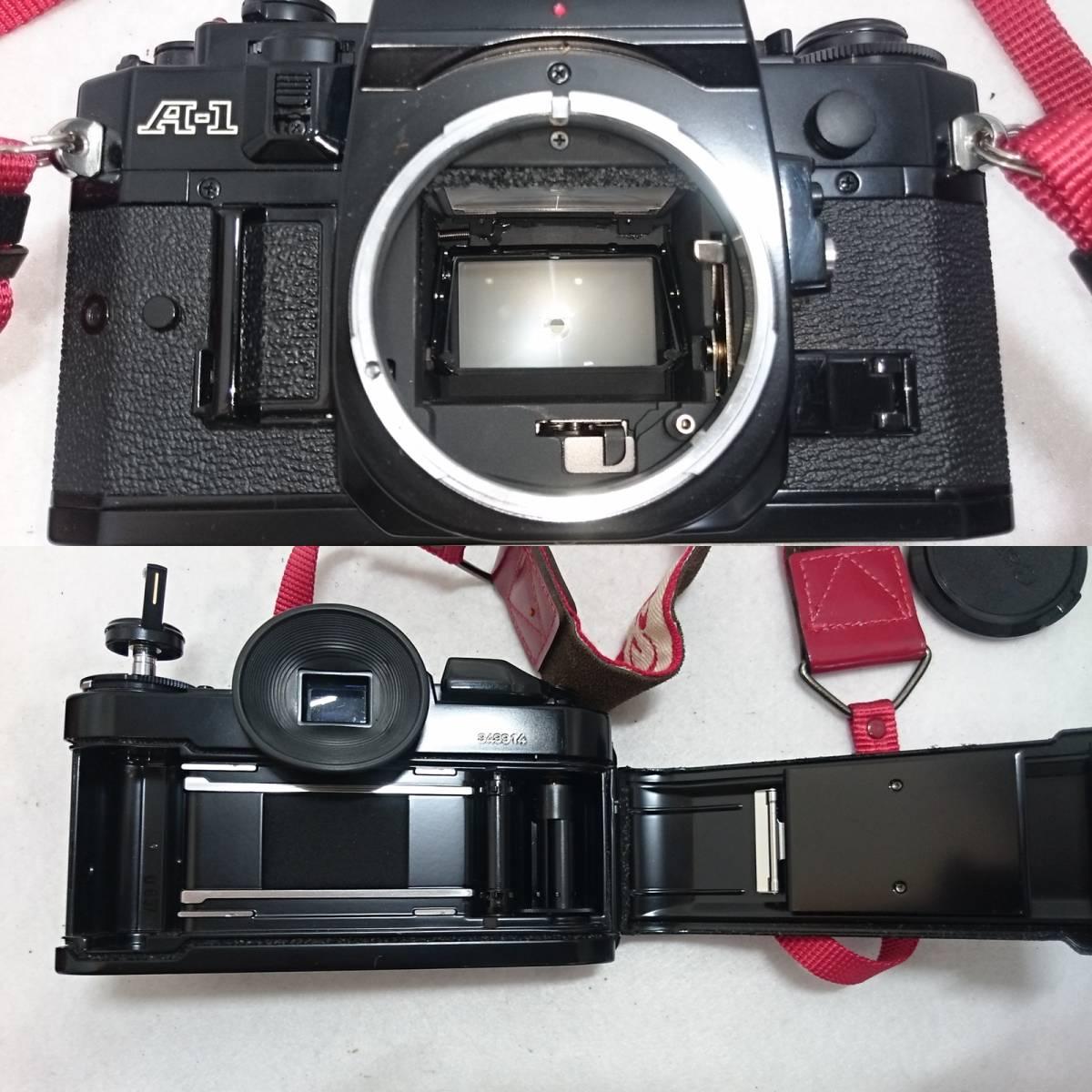 ■カメラ CANON A-1 キャノン 一眼レフ 本体 レンズセット FD 24mm 1:2 FD 35-70mm 1:4 説明書付_画像8