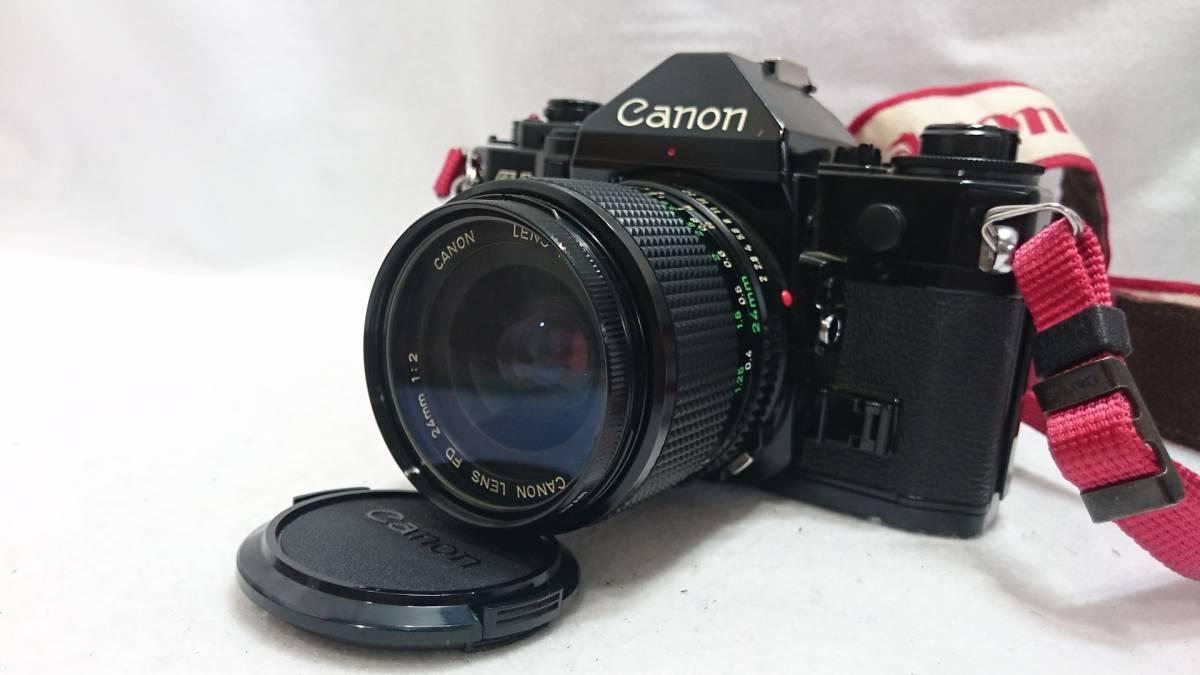 ■カメラ CANON A-1 キャノン 一眼レフ 本体 レンズセット FD 24mm 1:2 FD 35-70mm 1:4 説明書付_画像4