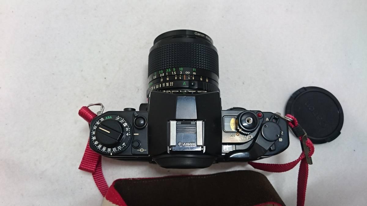 ■カメラ CANON A-1 キャノン 一眼レフ 本体 レンズセット FD 24mm 1:2 FD 35-70mm 1:4 説明書付_画像5