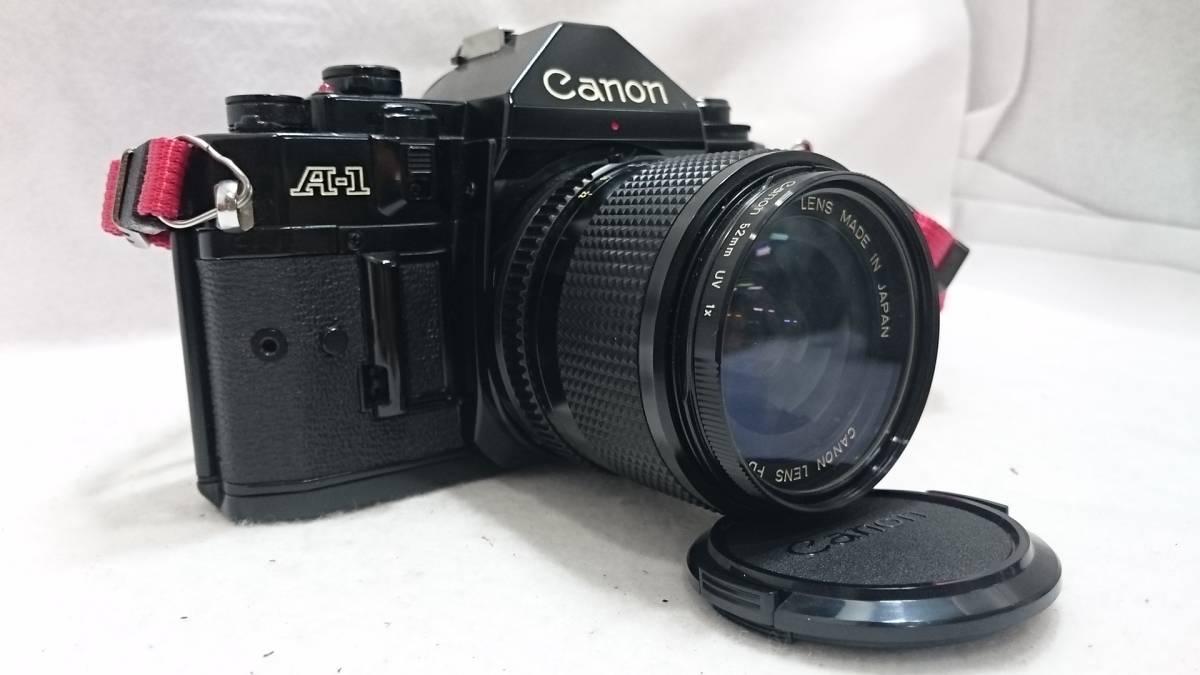 ■カメラ CANON A-1 キャノン 一眼レフ 本体 レンズセット FD 24mm 1:2 FD 35-70mm 1:4 説明書付_画像3