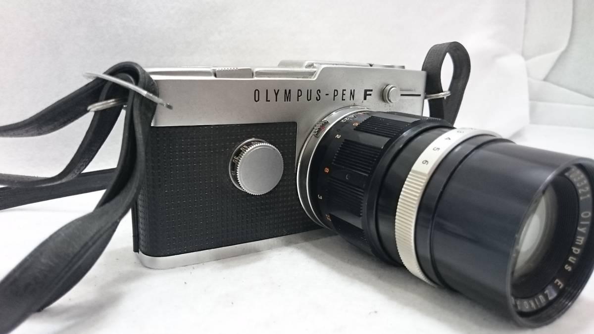 ■カメラ OLYMPUS PEN F オリンパス ペン 一眼レフ 本体 レンズセット E.Zuiko Auto-T 1:3.5 f=100_画像2