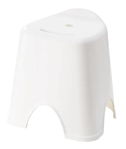 ☆ IKEA イケア ☆ GRUMLAN スツール, ホワイト 風呂 椅子 イス <幅: 35 cm 奥行き: 30 cm 高さ: 36 cm> u pd ☆_画像1