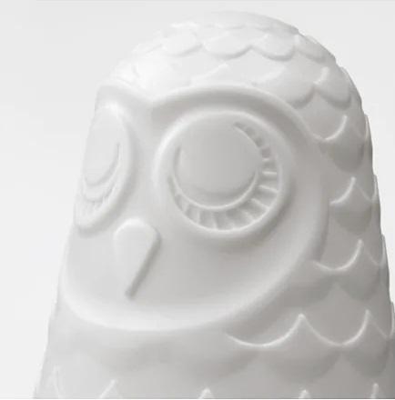 ☆ IKEAイケア ☆ SOLBO テーブルランプ, ホワイト, フクロウ 卓上ランプ 子供 幼児 あかちゃん <高さ: 23 cm >送料500円~ u ☆_画像2
