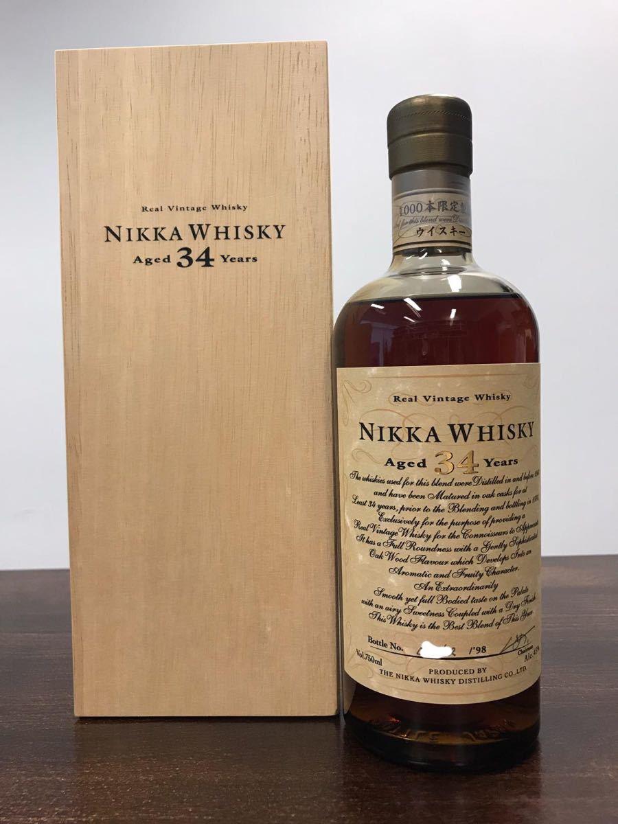 【未開栓】NIKKA ニッカ THE NIKKA ザ・ニッカ 34年 1998 ウイスキー 750ml 43% 箱あり