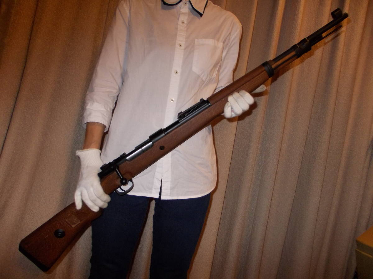 new goods! free shipping!PPS(G&G?) Mauser Kar98k gas bolt action metal / wood model
