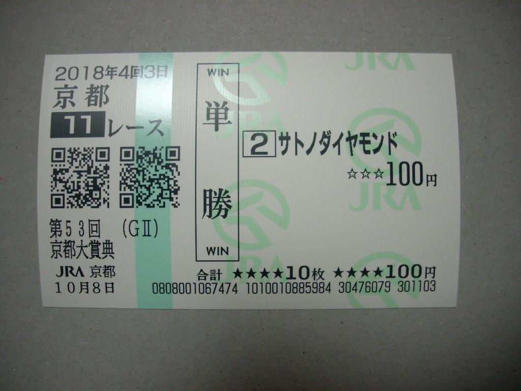 サトノダイヤモンド:第53回京都大賞典(GⅡ) 現地的中