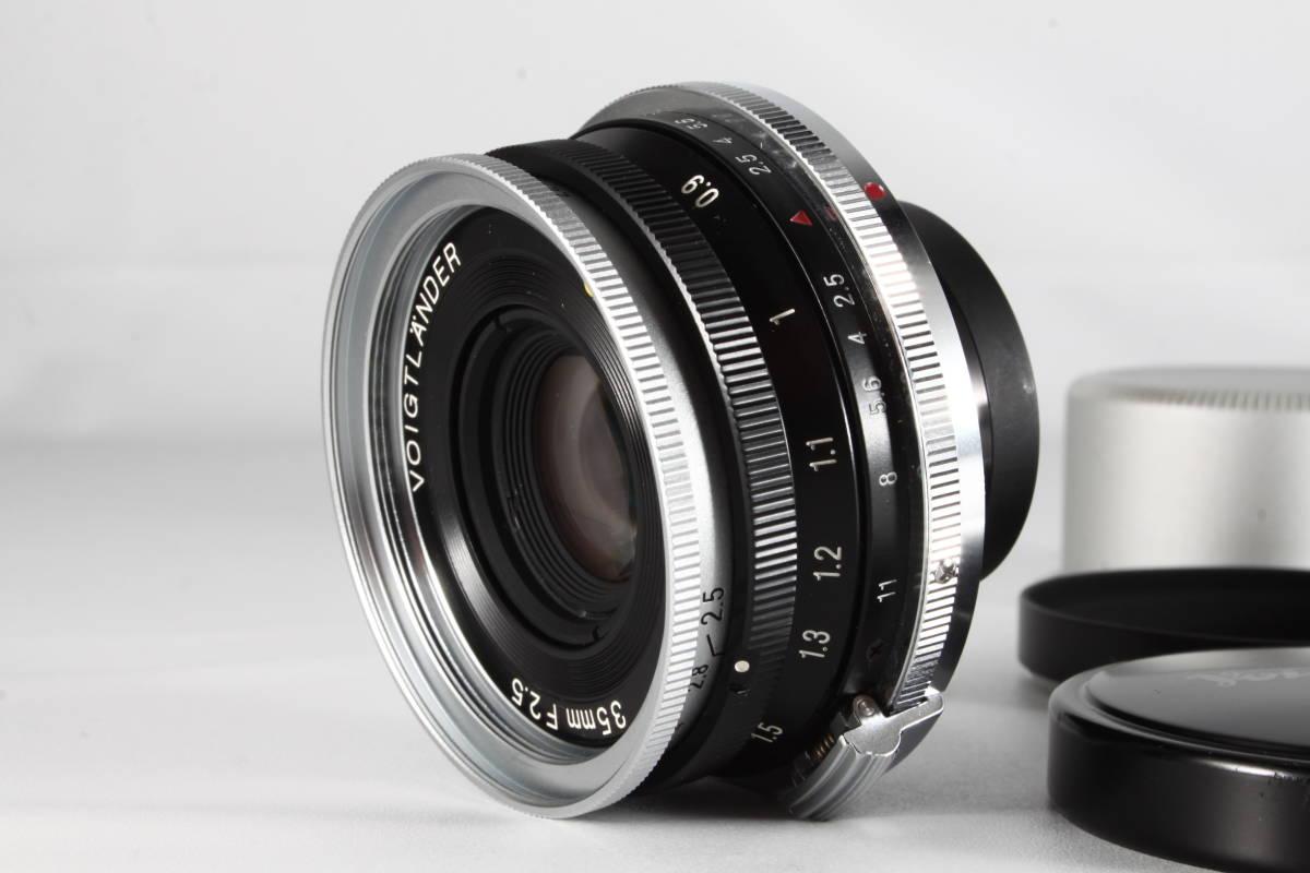 ★驚愕の新品級美観★VOIGTLANDER SC SKOPAR 35mm F2.5 Sマウント ★フード付き,完動品★フォクトレンダー #112_画像2