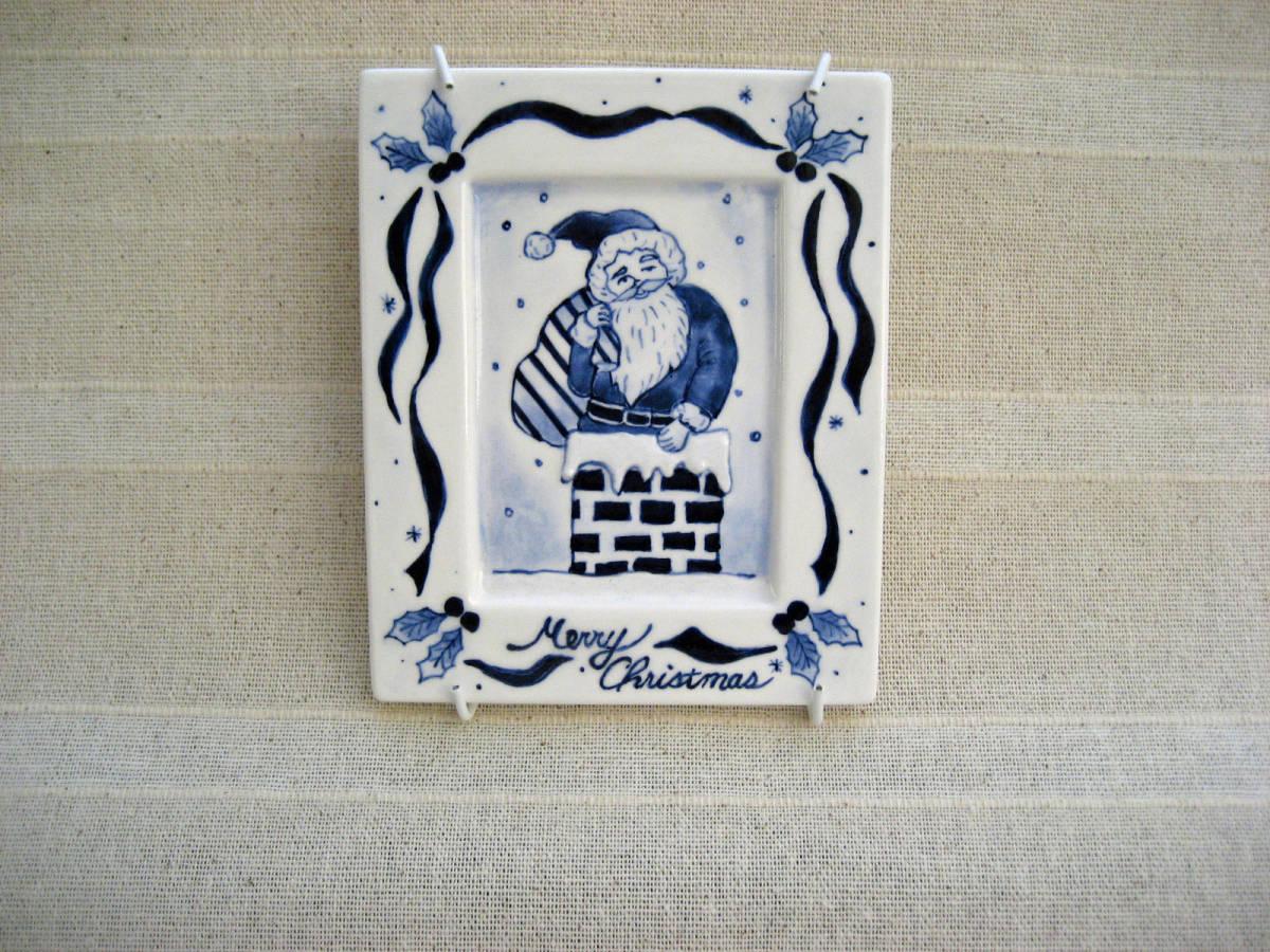 ハンドメイド・ハンドクラフト・手作り 陶器のクリスマス飾り サンタクロース インテリア飾り_画像2