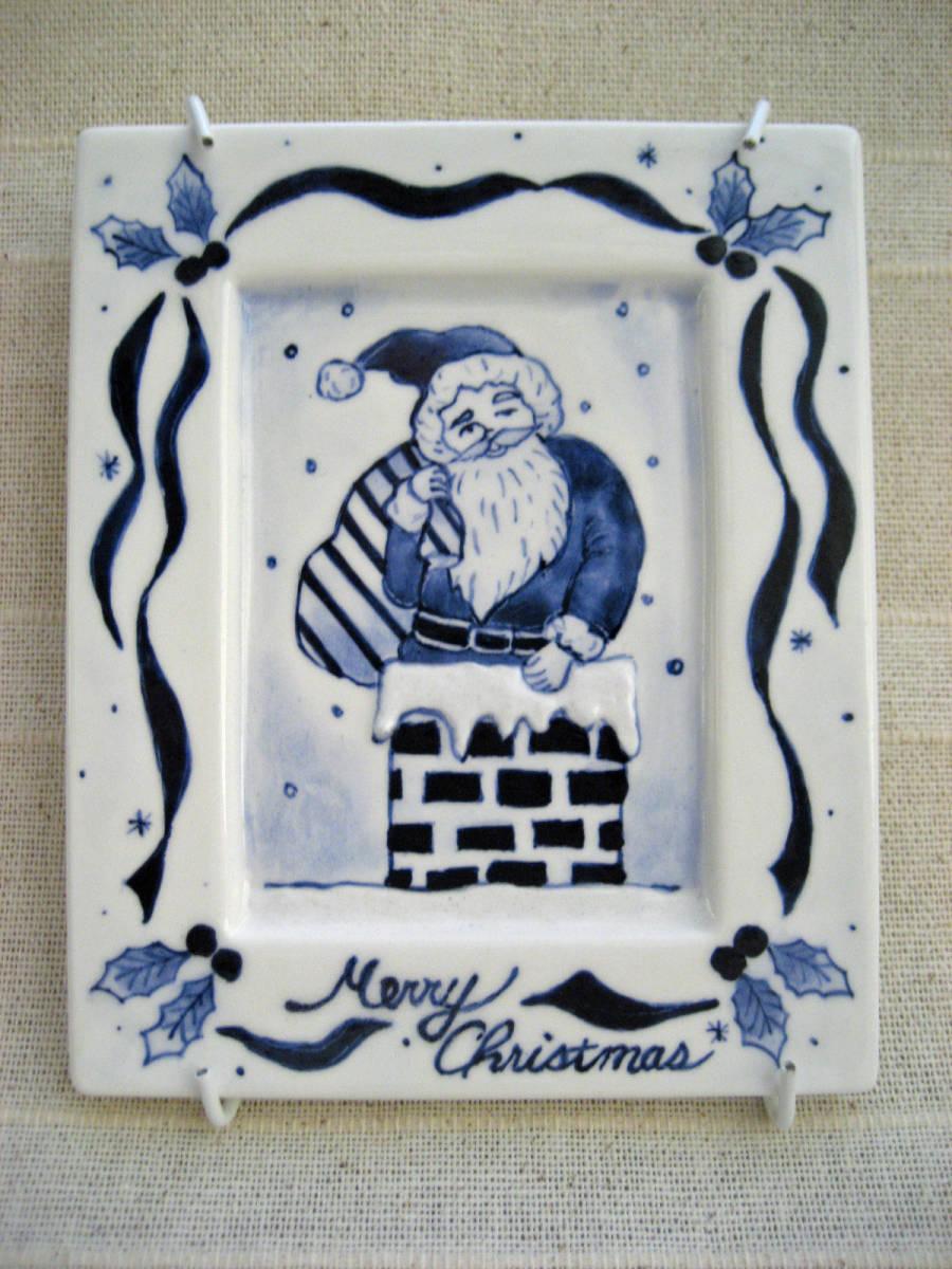 ハンドメイド・ハンドクラフト・手作り 陶器のクリスマス飾り サンタクロース インテリア飾り_画像1