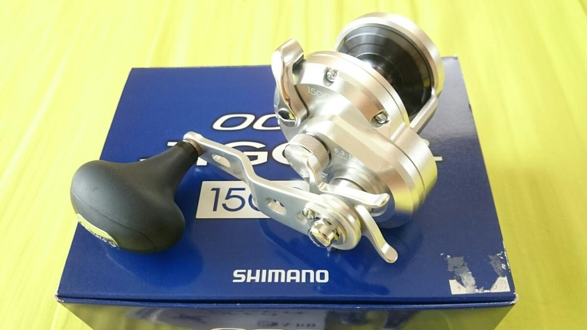 【中古】11オシアジガー 1500HG 純正ロングハンドル化 箱有 シマノ 右ハンドル スロージギング 1円~ 格安出品