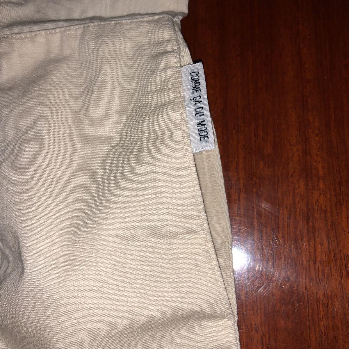 コムサイズム/COMME CA ISM ノースリーブワンピース 長袖シャツ 90㎝ 中古 ベージュ 薄ピンク 2枚セット