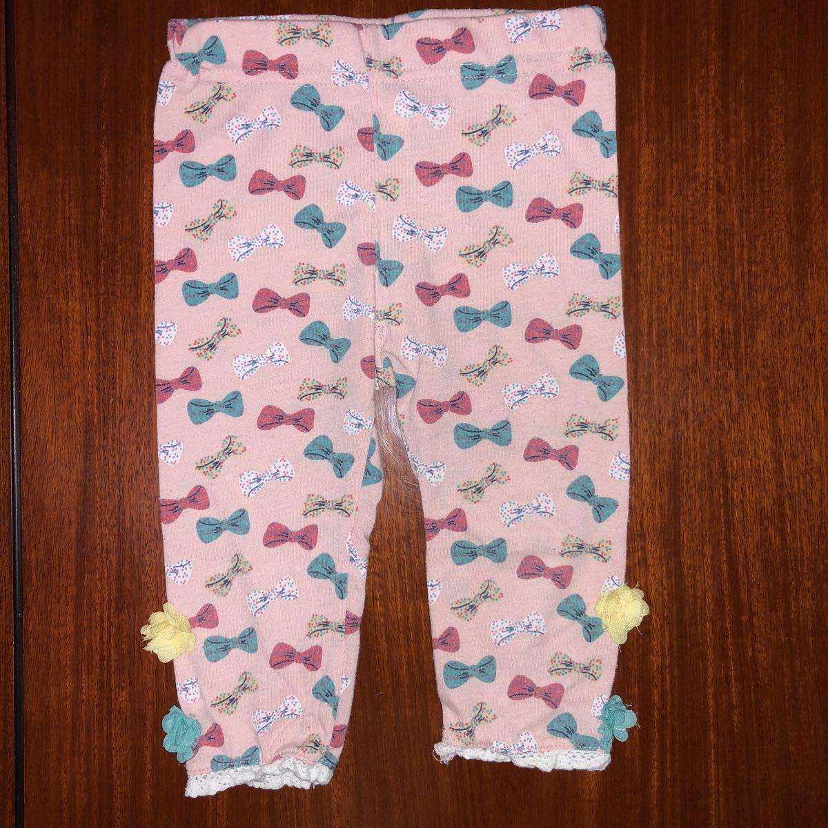 女の子用 レギンス スパッツ カルソン 95㎝ 2枚セット 中古 ピンク ネイビー_画像2