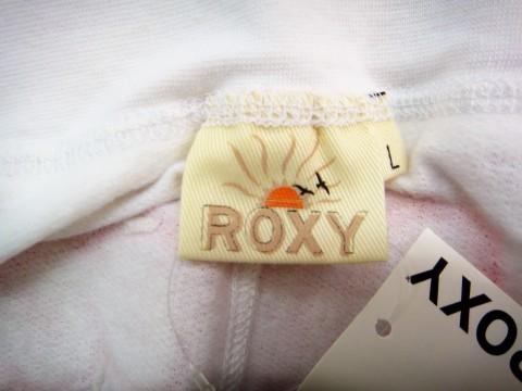 AX39 【訳あり】 ミニスカート ロキシー ROXY ミニスカート 未使用品 材料 コットン100% 白 サイズL _タグ