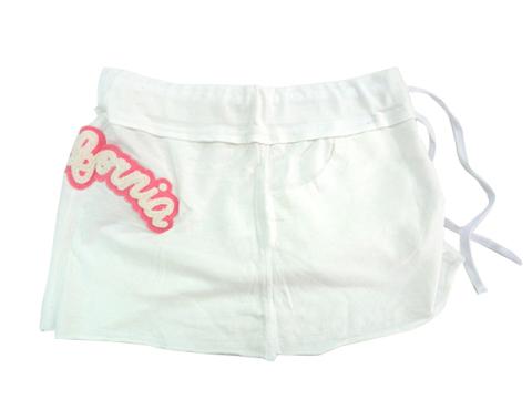 AX39 【訳あり】 ミニスカート ロキシー ROXY ミニスカート 未使用品 材料 コットン100% 白 サイズL _横