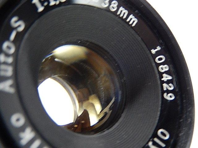 ★美品 オリンパス ペンF 1:1.8 38mm モルト交換・点検清掃・作動確認済_画像7