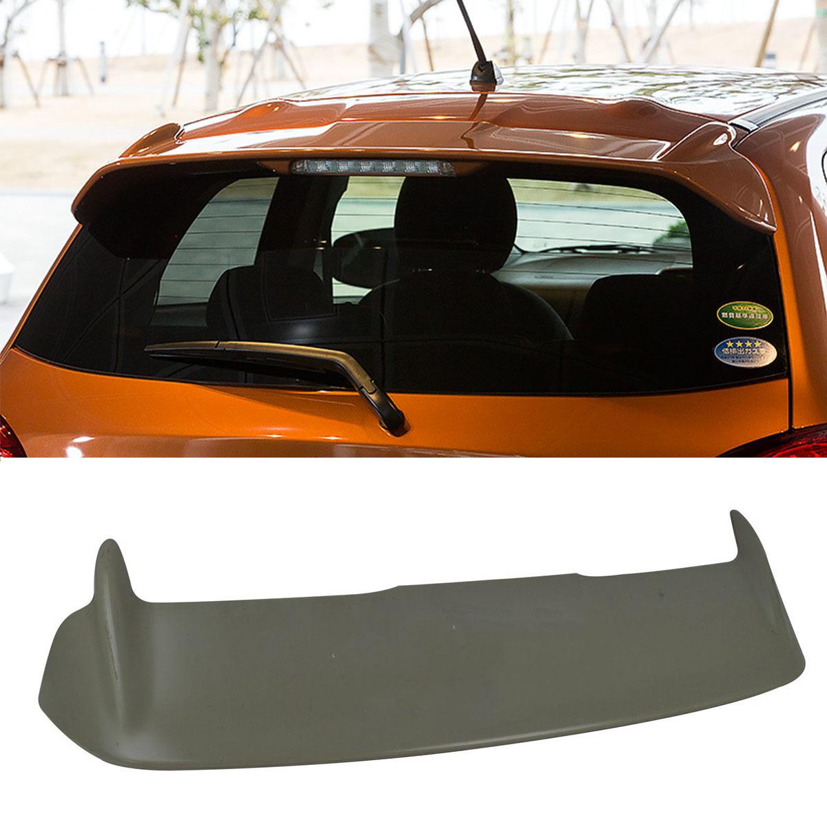 三菱 新型ミラージュ 12-15 純正色塗装 ルーフスポイラー 色付 ルーフエンドスポイラー ウィングスポイラー リアスポイラー エアロ ABS_画像1