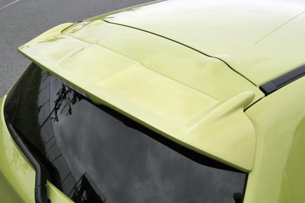 三菱 新型ミラージュ 12-15 純正色塗装 ルーフスポイラー 色付 ルーフエンドスポイラー ウィングスポイラー リアスポイラー エアロ ABS_画像2
