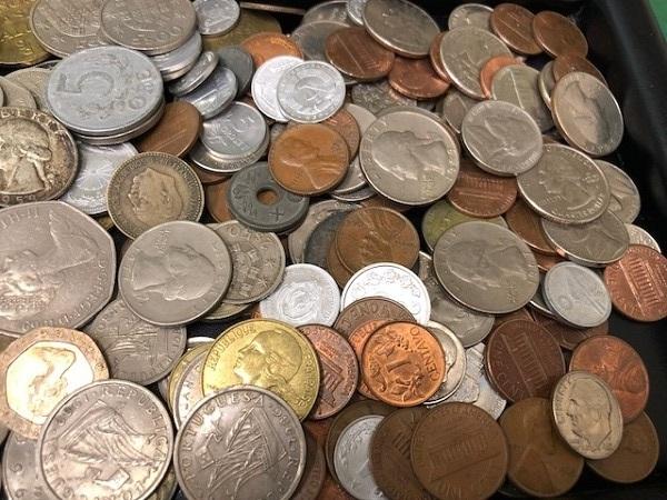 ★外国銭 おまとめ リバティー モルガン等 950g以上_画像6
