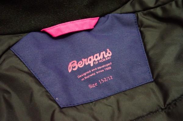 北欧ノルウェー本格アウトドアブランドBergans 防水透湿中綿入り 北欧美デザイン ウインタージャケット ジュニア152 日本レディスS相当も可_画像8