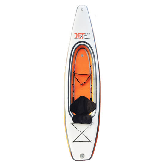 Jet Ocean Sport 【TOUR KAYAK 330】 ORANGE オレンジ/白 インフレータブルカヤック パドル付きフルセット 折りたためて専用バックに入りま_画像1