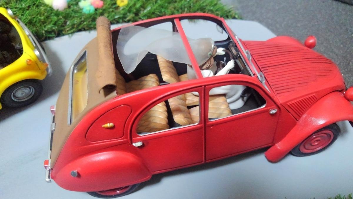 ★グンゼ 1/24 ルパン三世 カリオストロの城 CLARISE&2CV 逃走 クラリス 完成品 ジオラマ_画像9