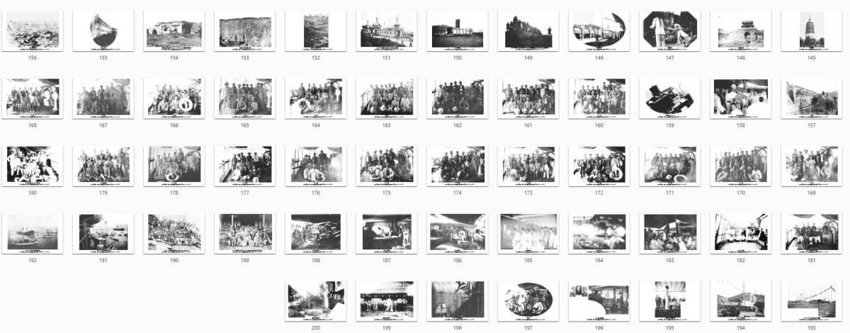 即落,明治復刻絵ハガキ,朝鮮(今の韓国と北朝鮮)と満州の写真200枚セット,明治39年の風景、ロゼッタ丸_画像3
