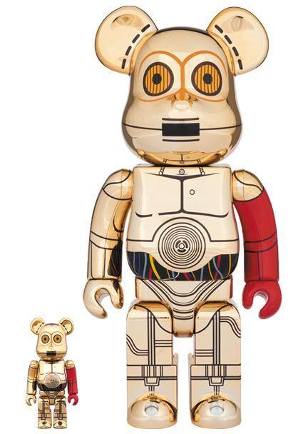 ベアブリック BE@RBRICK スターウオーズ STAR WARS C-3PO THE FORCE AWAKENS Ver. 100% & 400%_画像1