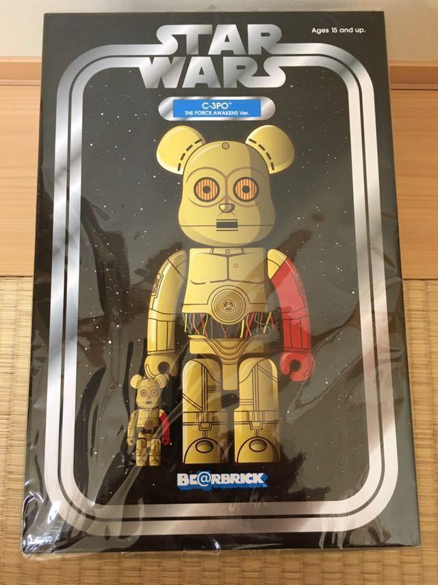 ベアブリック BE@RBRICK スターウオーズ STAR WARS C-3PO THE FORCE AWAKENS Ver. 100% & 400%_画像2