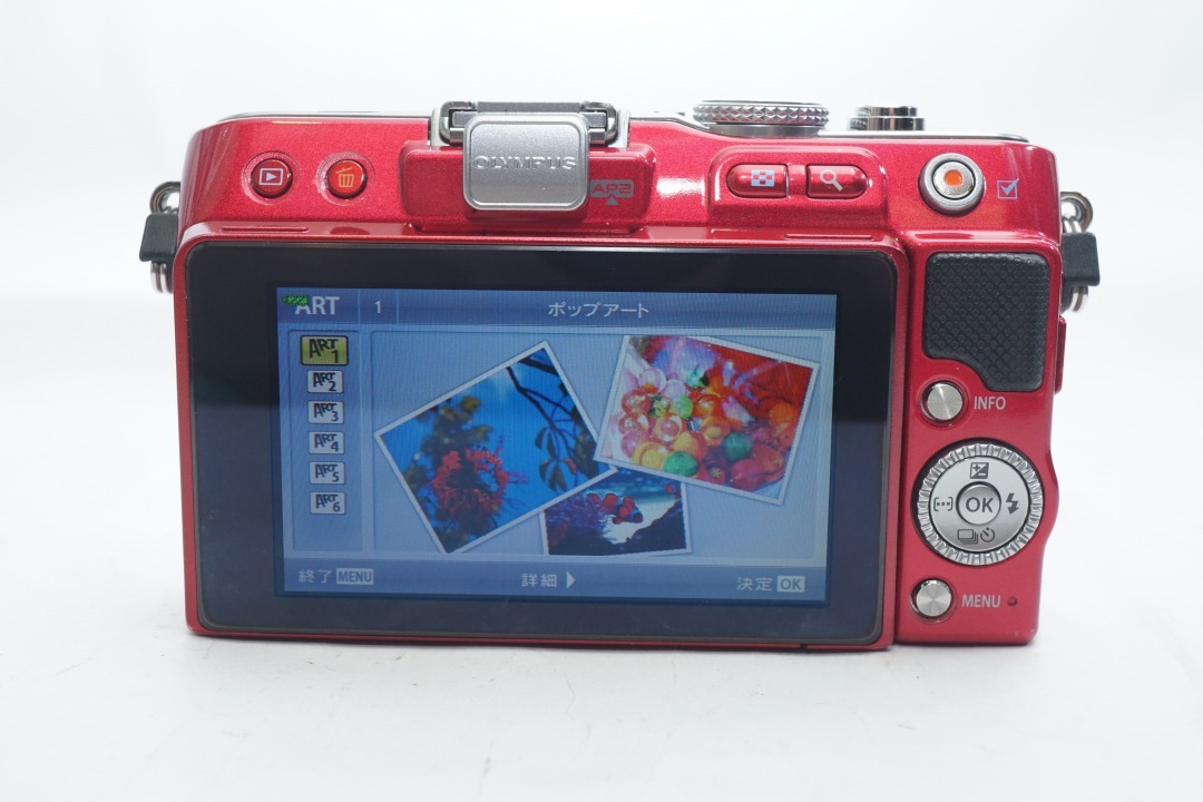 ★極上美品★ OLYMPUS E-PL3 ボディ オリンパス PEN ミラーレスカメラ レッド マイクロフォーサーズ_画像5