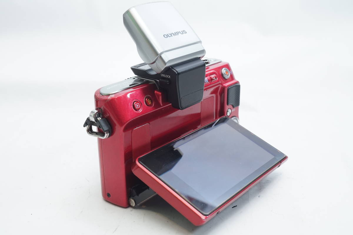 ★極上美品★ OLYMPUS E-PL3 ボディ オリンパス PEN ミラーレスカメラ レッド マイクロフォーサーズ_画像10