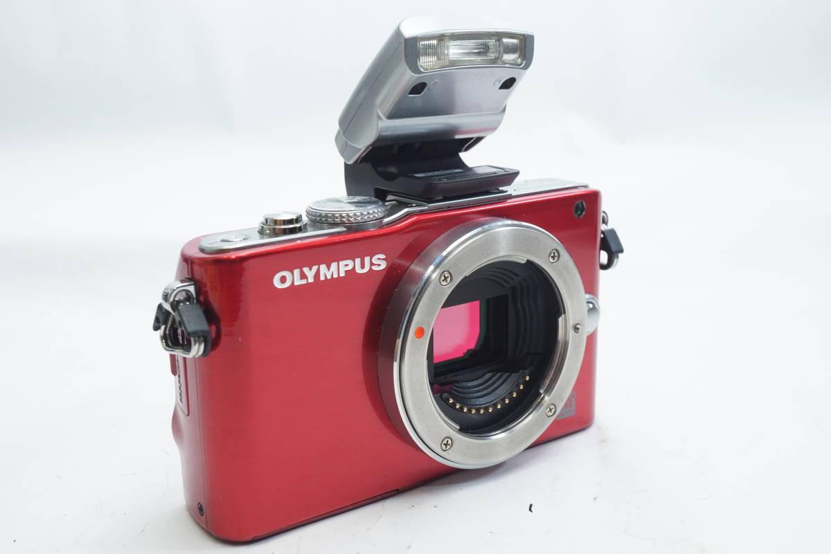 ★極上美品★ OLYMPUS E-PL3 ボディ オリンパス PEN ミラーレスカメラ レッド マイクロフォーサーズ_画像9