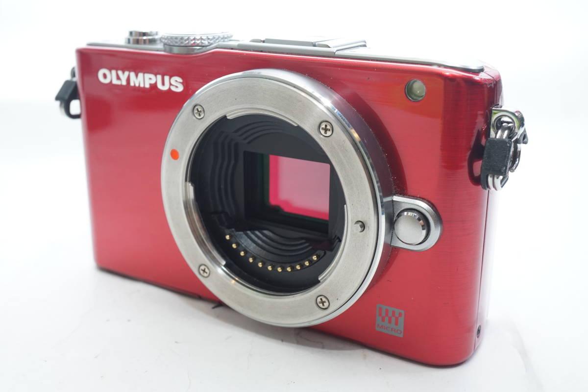 ★極上美品★ OLYMPUS E-PL3 ボディ オリンパス PEN ミラーレスカメラ レッド マイクロフォーサーズ_画像2