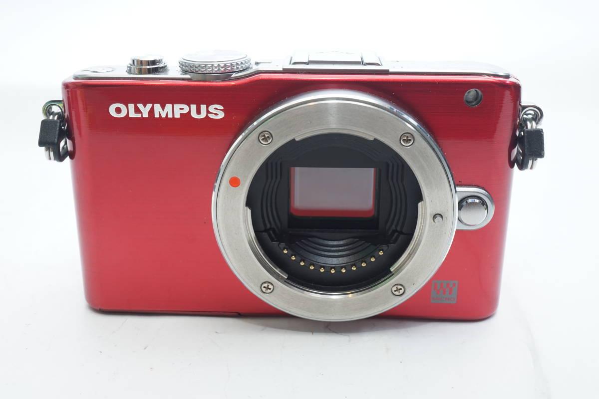 ★極上美品★ OLYMPUS E-PL3 ボディ オリンパス PEN ミラーレスカメラ レッド マイクロフォーサーズ_画像3