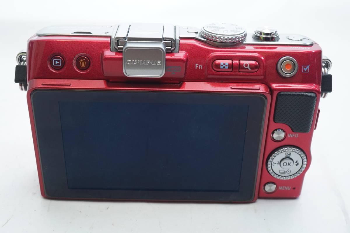 ★極上美品★ OLYMPUS E-PL3 ボディ オリンパス PEN ミラーレスカメラ レッド マイクロフォーサーズ_画像4