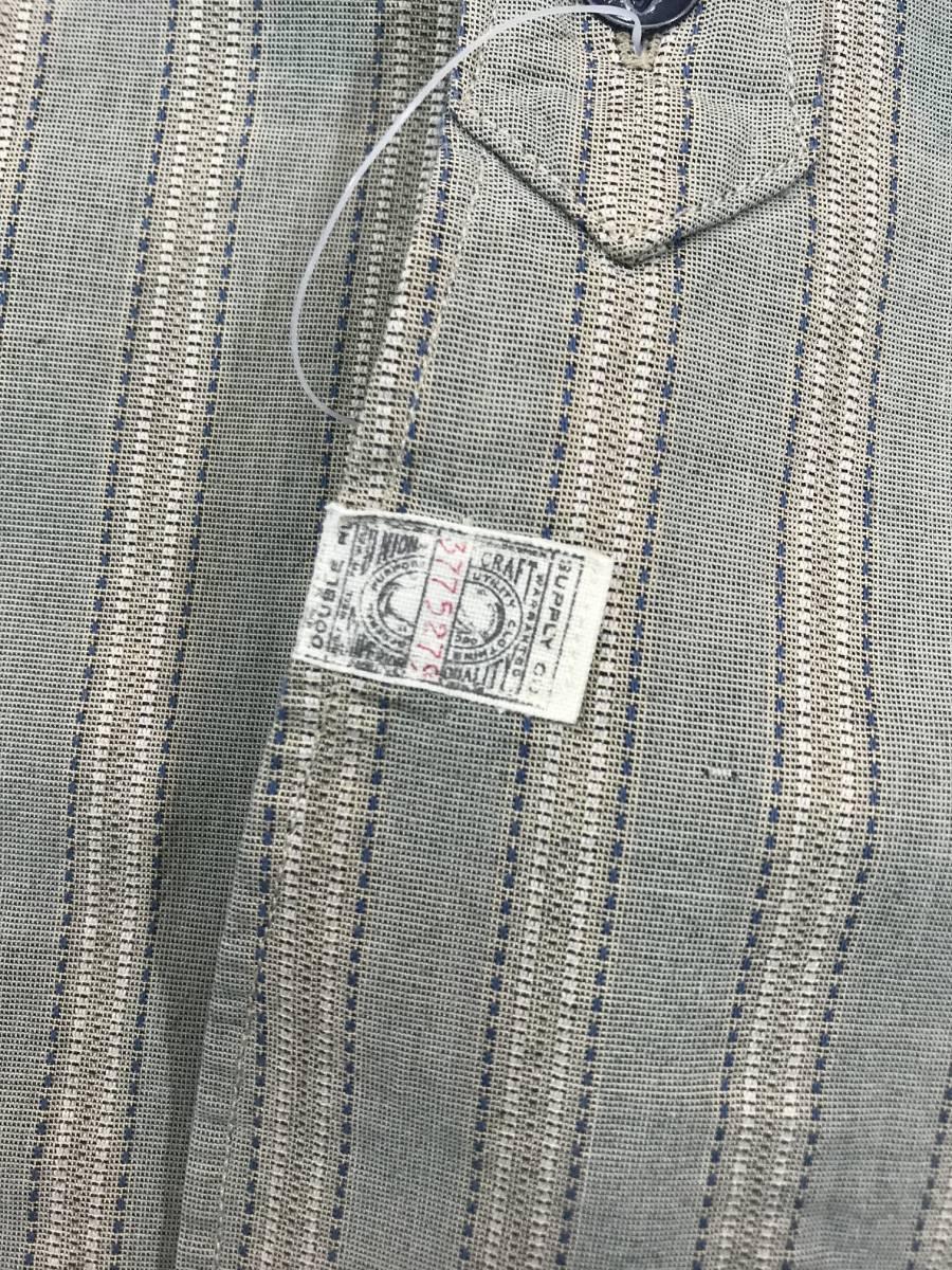 新品 13682 RRL ダブルアールエル XLサイズ 長袖 シャツ polo ralph lauren ラルフ ローレン ポロ ビンテージ ワーク ストライプ_画像8