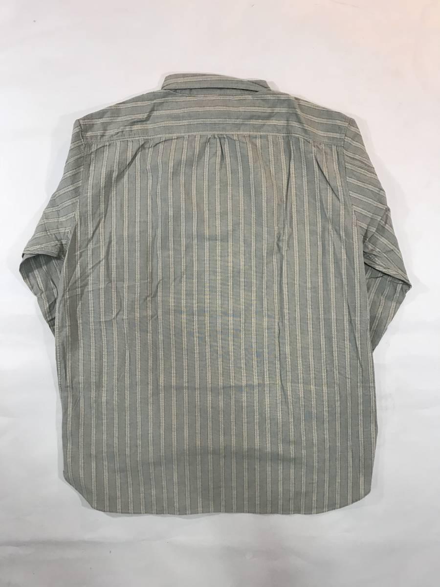新品 13682 RRL ダブルアールエル XLサイズ 長袖 シャツ polo ralph lauren ラルフ ローレン ポロ ビンテージ ワーク ストライプ_画像9
