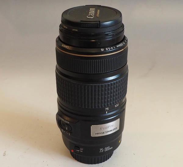 72■キヤノン Canon EF 75-300mm F4-5.6 IS USM IMAGE STABILIZER AF望遠ズームレンズ 現状品