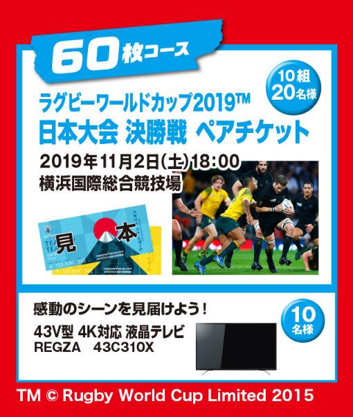リポビタンD ラグビーワールドカップ日本代表応援キャンペーン 応募シール 300枚_画像2
