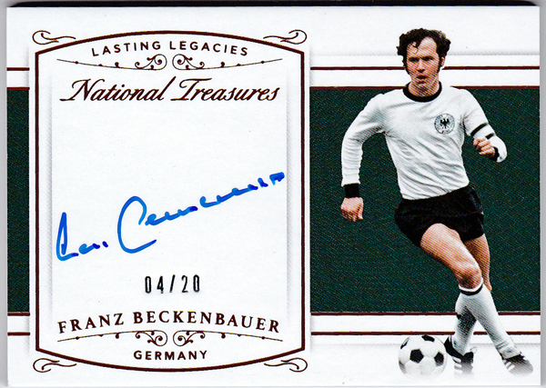 Franz Beckenbauer 2018 Panini National Treasures Lasting Legacies Auto 20枚限定 直筆サインカード ドイツ代表