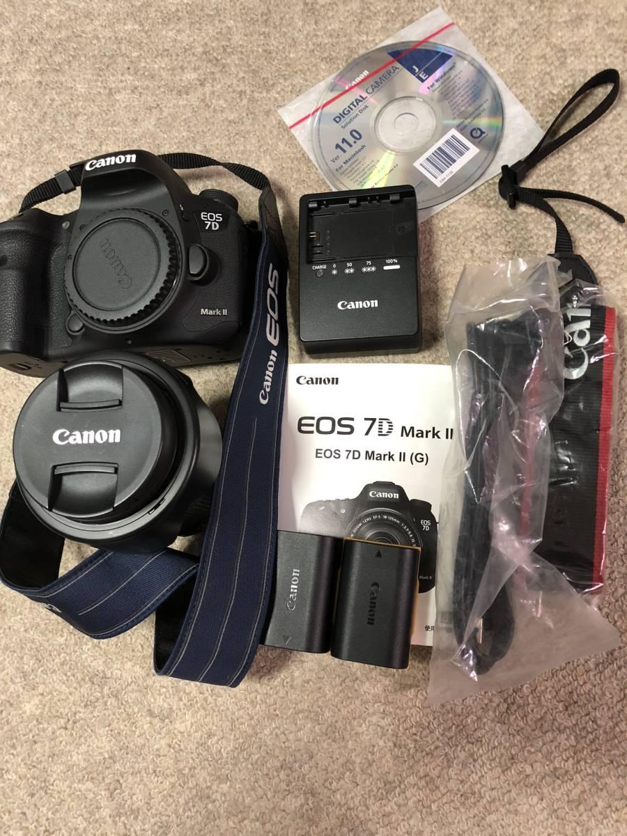 【極上美品】 キャノン CANON EOS 7D MarkⅡ EFS18-135mm 3.5-5.6 IS レンズセット