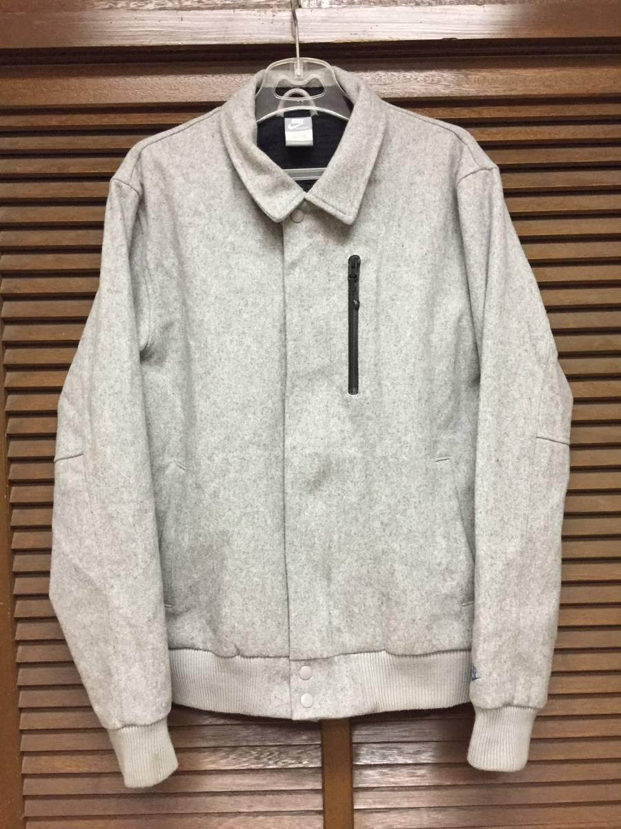 代購代標第一品牌- 樂淘letao - Nike Wool Coachstroyer Jacket グレーM USED スタジャン 0aa1eec9e
