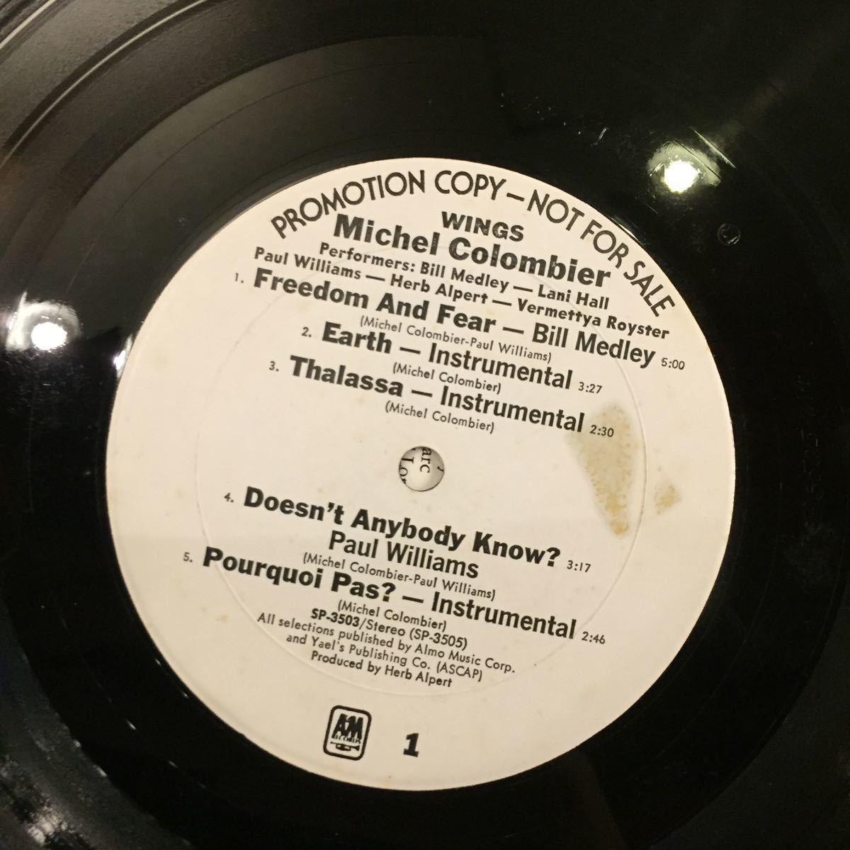 MICHEL COLOMBIER/WING/VA/BLACK SHEEPネタ プロモ盤_画像4