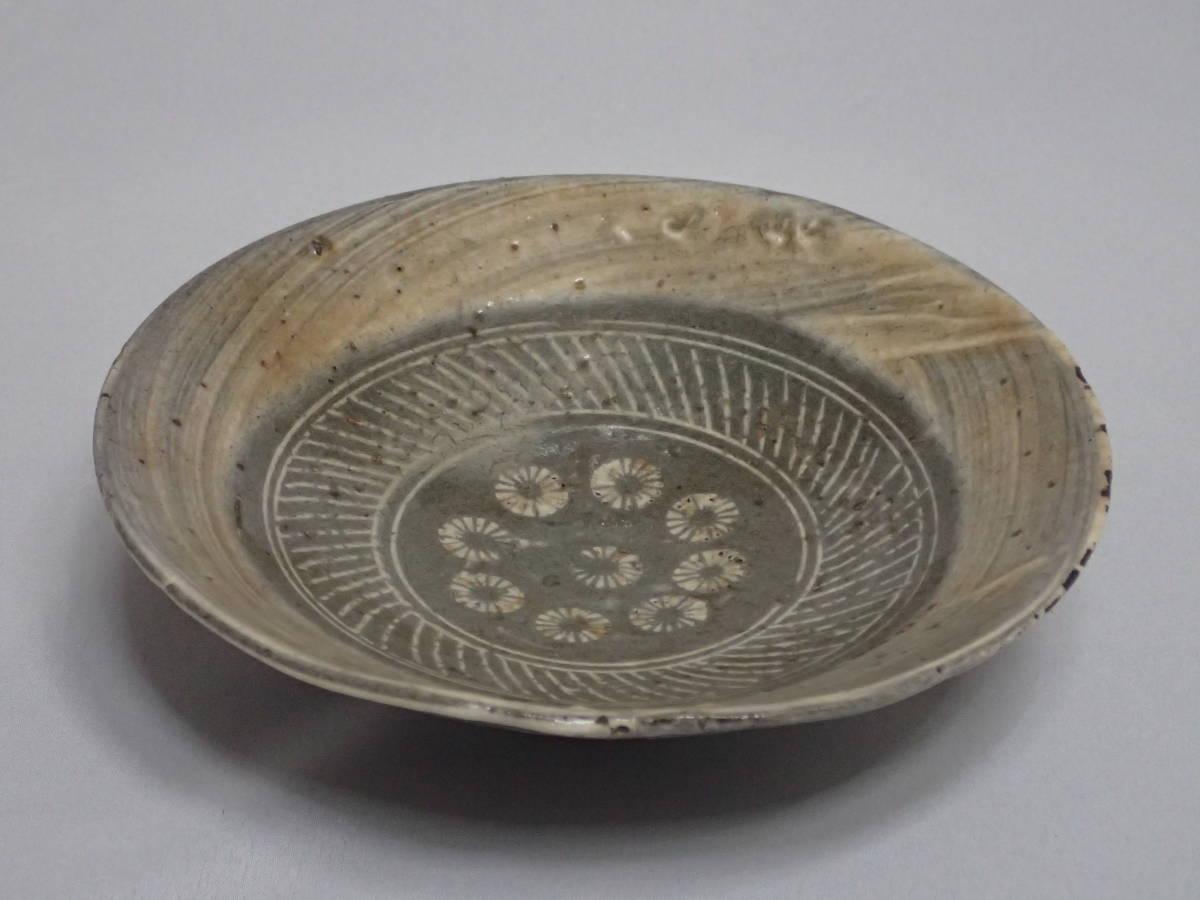 李朝時代 三島手 刷毛目 茶碗 茶道具 朝鮮古陶磁 茶器/平茶碗/夏茶碗_画像5