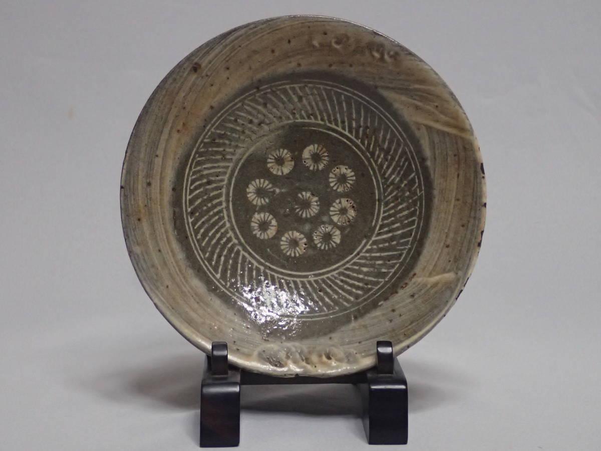 李朝時代 三島手 刷毛目 茶碗 茶道具 朝鮮古陶磁 茶器/平茶碗/夏茶碗_画像1