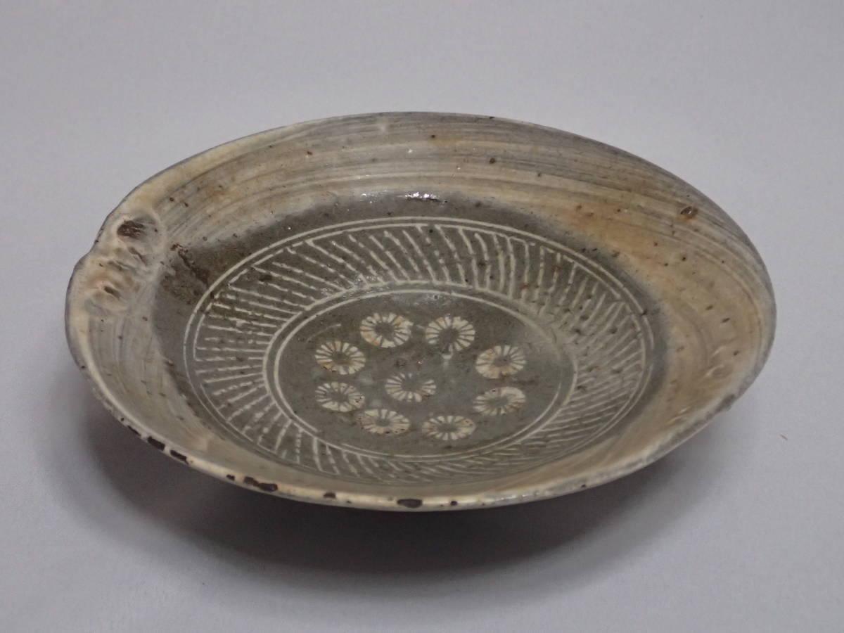 李朝時代 三島手 刷毛目 茶碗 茶道具 朝鮮古陶磁 茶器/平茶碗/夏茶碗_画像3